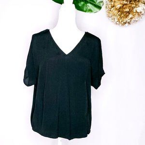 Madewell black cap sleeve black top